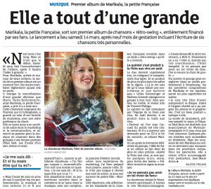 Article L'Alsace lancement album 03.15